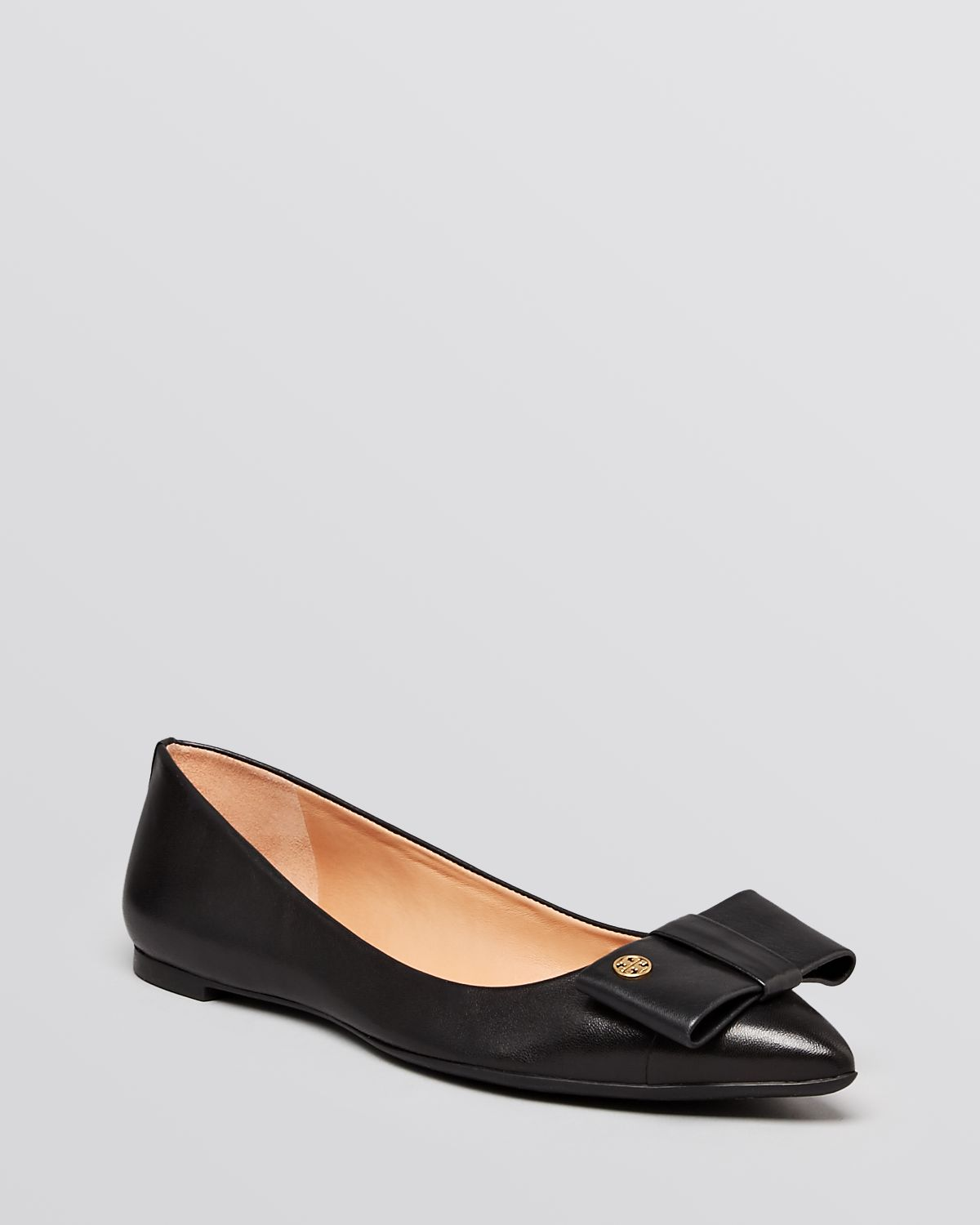 lyst tory burch pointed toe flats aimee in black