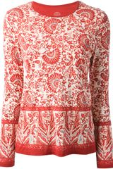 Tory Burch Floral Print Top - Lyst