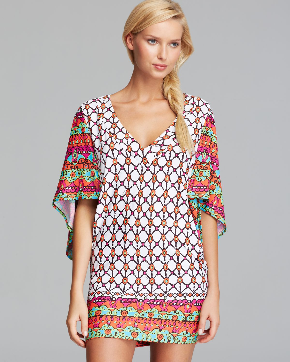 c8553f94bf2d3 Lyst trina turk venice beach cover up tunic in white bathing suit cover ups  jpg 1200x1500