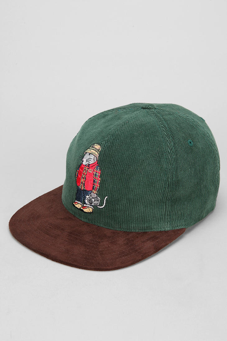 Lyst - Urban Outfitters Stussy Rat Corduroy Snapback Hat ...