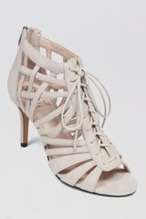 Vince Camuto Open Toe Sandals Nonzia Lace Up High Heel - Lyst