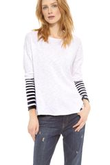 Vince Placement Stripe Slub Sweater - Lyst