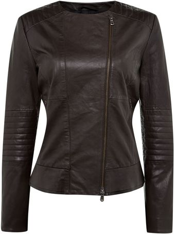 Weekend By Maxmara Leather Biker Jacket - Lyst