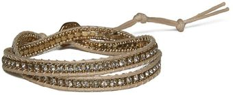 Ziba Cream Stone Thread Friendship Bracelet - Lyst
