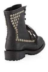 Ash Ralph Studded Laceup Boot Black in Black (6) - Lyst