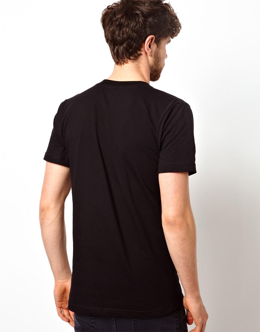 Lyst American Apparel T Shirt In Black For Men