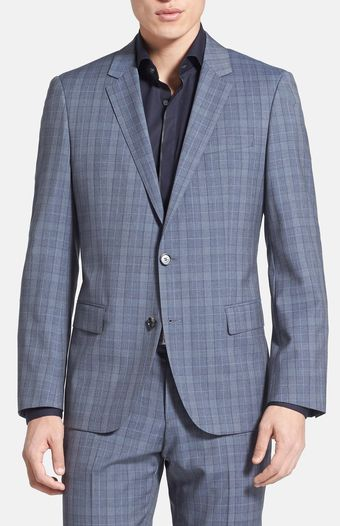 Boss by Hugo Boss Hugegenius Trim Fit Plaid Suit - Lyst