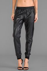 Capulet Leather Track Pant In Black - Lyst