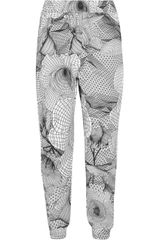 Christopher Kane Printed Cotton Jersey Track Pants - Lyst