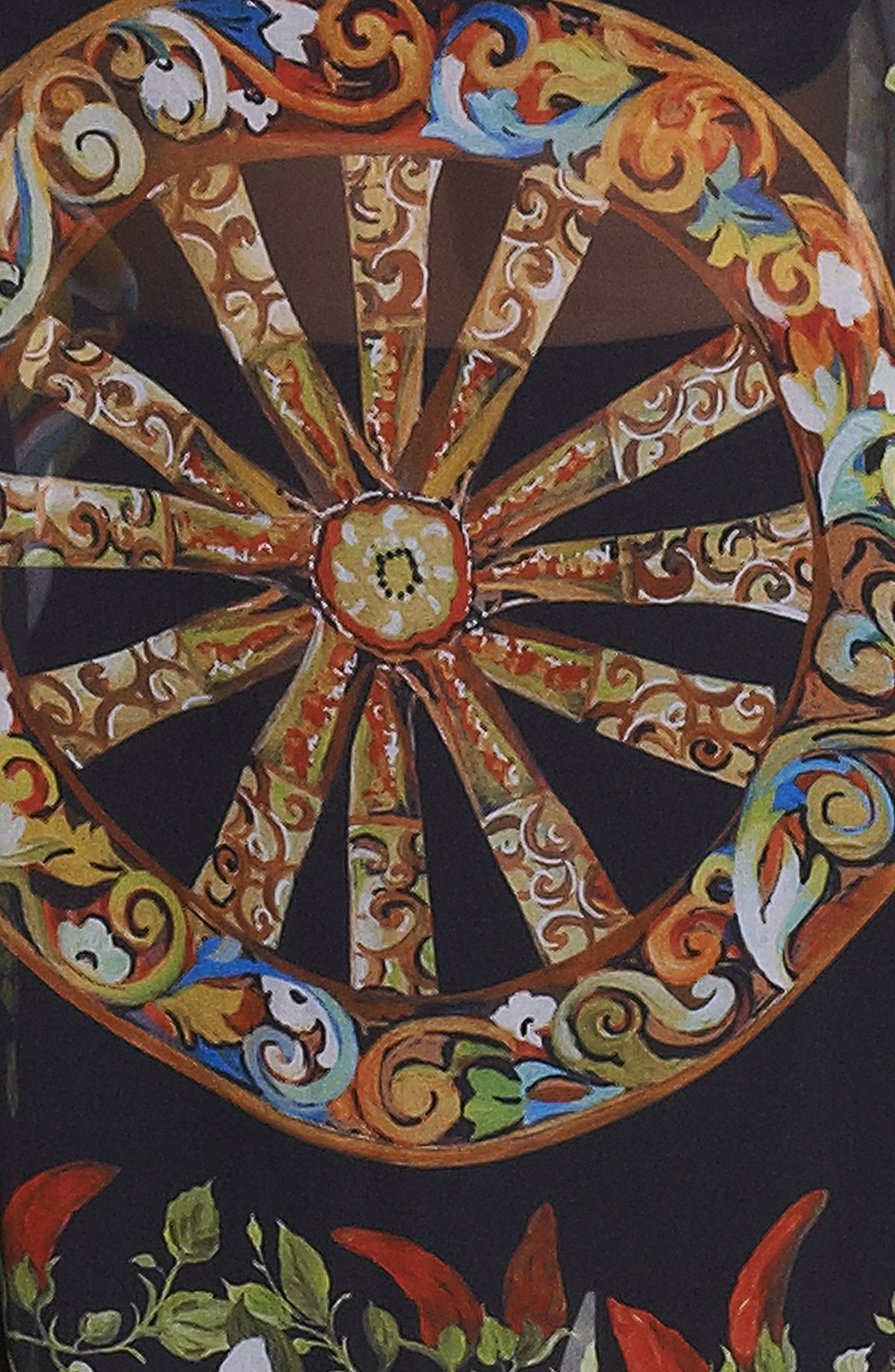 Dolce & gabbana Wheel Print Silk Caftan