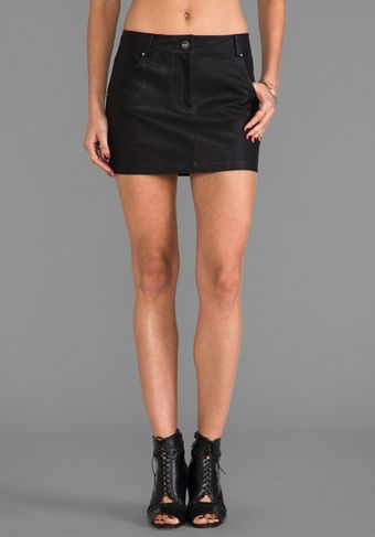 Dolce Vita Dv By Groove Faux Leather Skirt in Black - Lyst