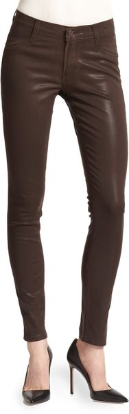 James Jeans Twiggy Coated Super Skinny Jeans - Lyst