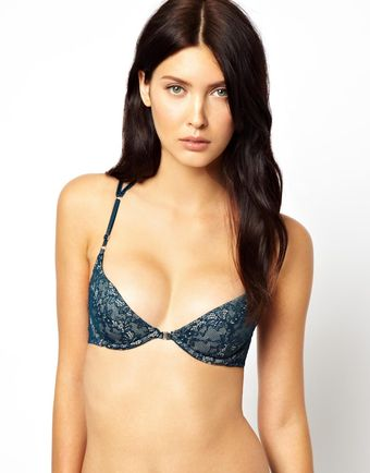 Marios Schwab Kallisti By For Asos Inc Lace Plunge Cross Back Bra - Lyst