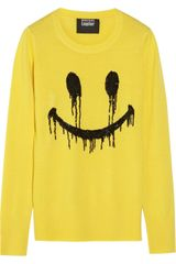 Markus Lupfer Smiley Face Sequined Merino Wool Sweater - Lyst