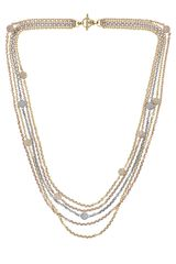 Michael Kors Tritone Fireball Necklace Multicolor - Lyst