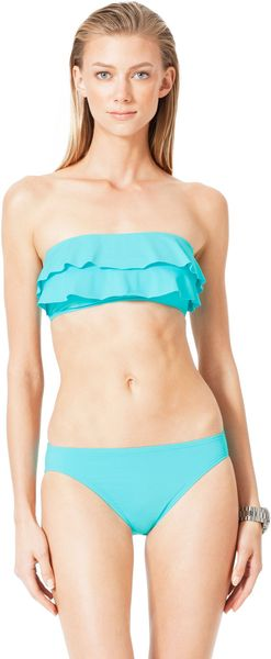 Michael Kors  Tiered Ruffled Bandeau Top - Lyst