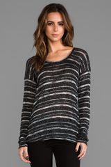 Michael Stars Hilo Scoop Neck Pullover in Black - Lyst