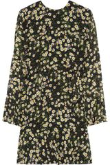 Moschino Cheap & Chic Daisy Print Silk Georgette Mini Dress - Lyst