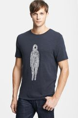 Rag & Bone Spaceman Graphic Crewneck Pocket Tshirt - Lyst