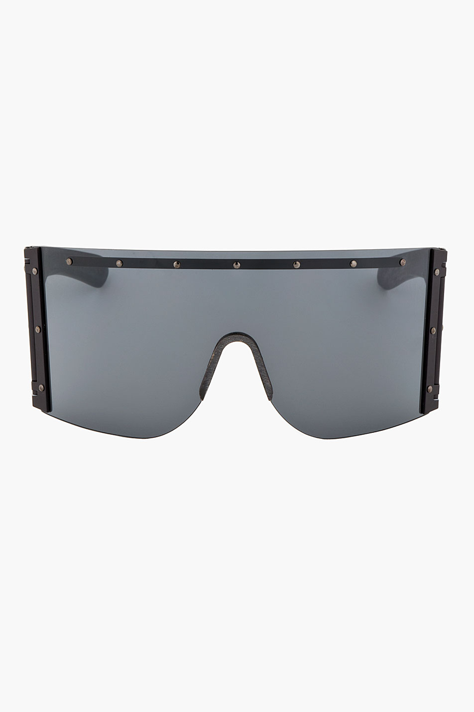 014f51abf63f Rick Owens Oversized Shield Sunglasses in Black for Men - Lyst
