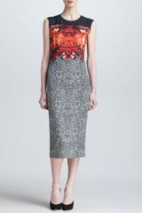Roberto Cavalli Tildaprint Belowtheknee Sheath Dress - Lyst