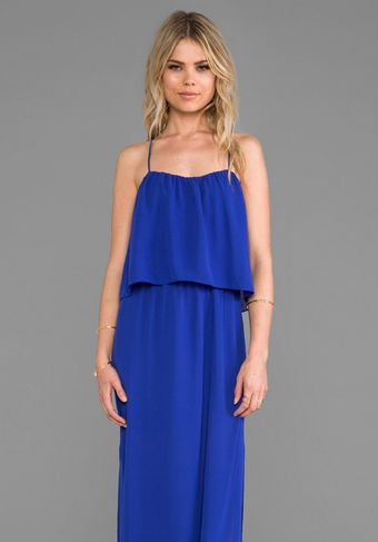 Rory Beca Tania Cross Back Maxi Dress in Blue - Lyst