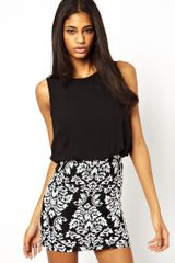 Tfnc Mini Dress with Monochrome Baroque Sequin Skirt - Lyst