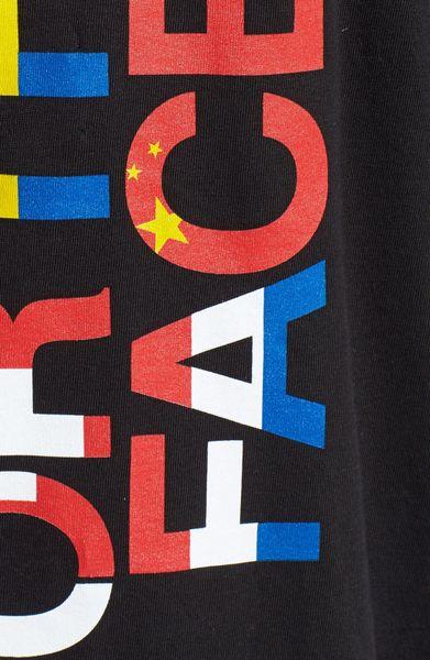The North Face Logo Screenprint Tshirt In Black For Men