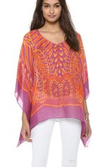 Theodora & Callum Tonga Scarf Cover Up Top - Lyst