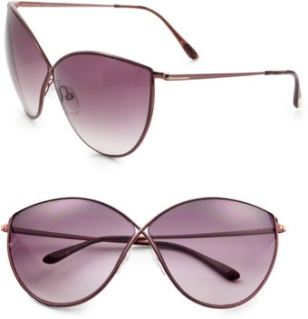 Tom Ford Evelyn Catseye Metal Sunglassesbronze - Lyst