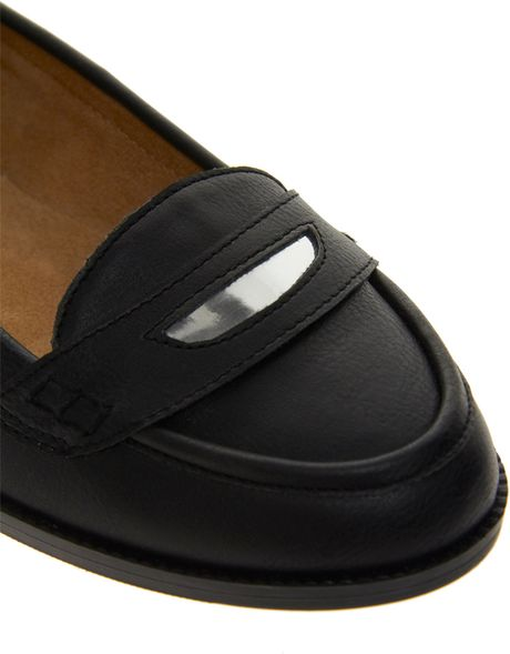 Asos New Look Luna Loafer Shoes In Black | Lyst