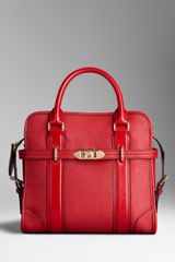 Burberry Medium Grainy Leather Portrait Tote Bag - Lyst