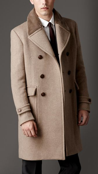 Burberry Mink Collar Cashmere Coat - Lyst