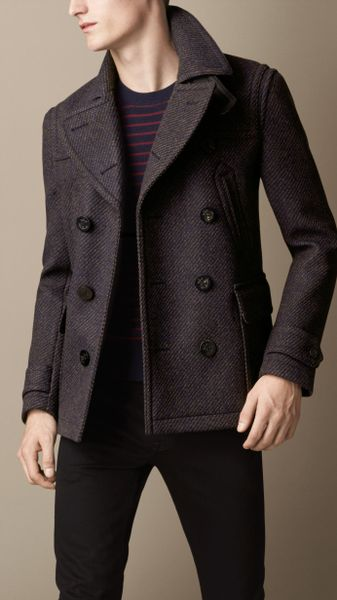 Men Splice Wool Jacket Slim Fit Windproof Outerwear Coat Winter Overcoat Price