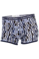 Calvin Klein Data Blocks Print Underwear Trunk - Lyst