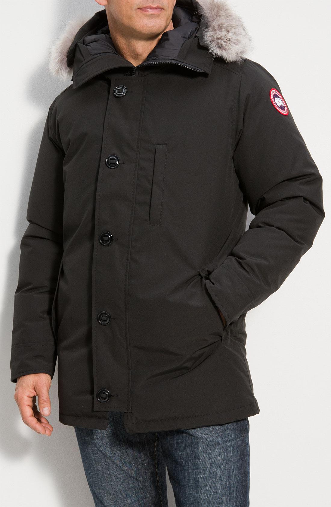 6546be33536 ... france canada goose chateau genuine coyote fur trim jacket e056e de82e