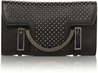 Coccinelle Celeste Black Studded Crossbody Bag - Lyst