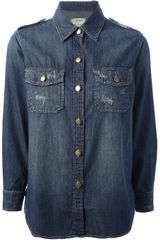 Current/Elliott Long Sleeve Shirt - Lyst