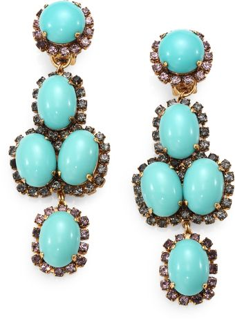 Erickson Beamon Glenda Swarovski Crystal Clipon Drop Earrings - Lyst