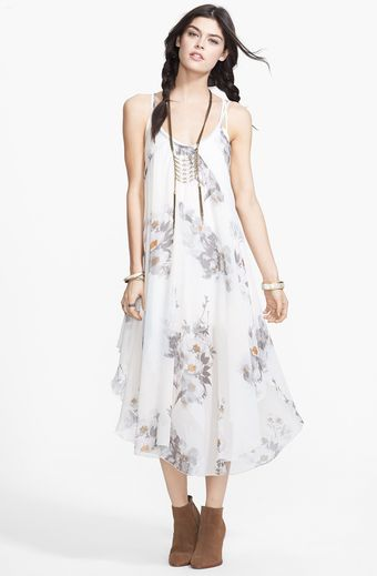 Free People Waterfalls Print Woven Slipdress - Lyst