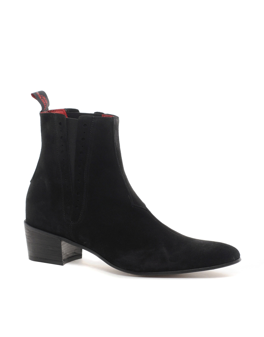 jeffery west suede chelsea boots in black lyst