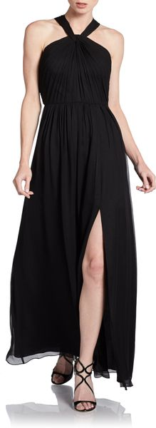 Jill Stuart Silk Halter Dress - Lyst