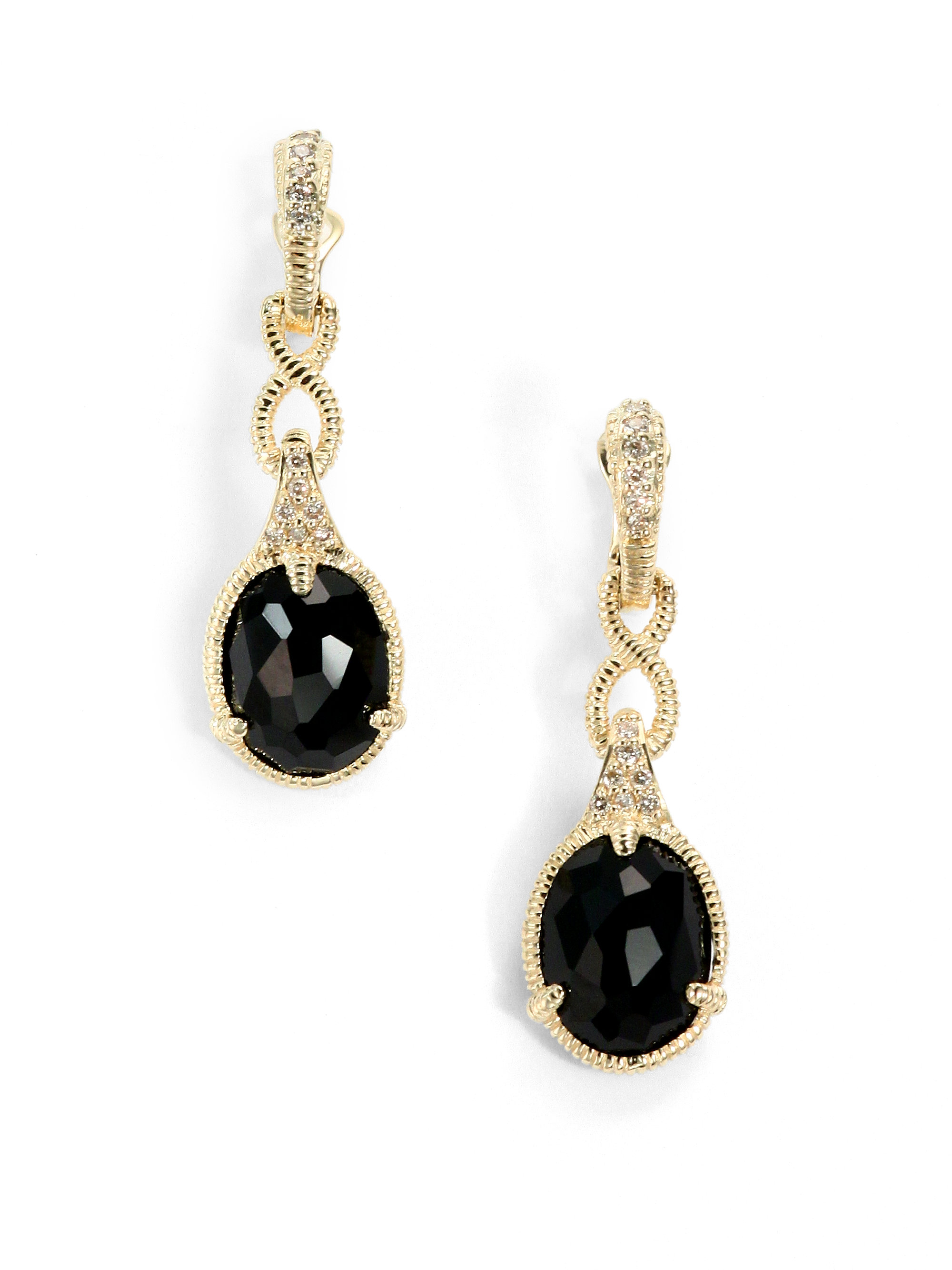 Black And Gold Drop Earrings Lyst Kate Spade New York
