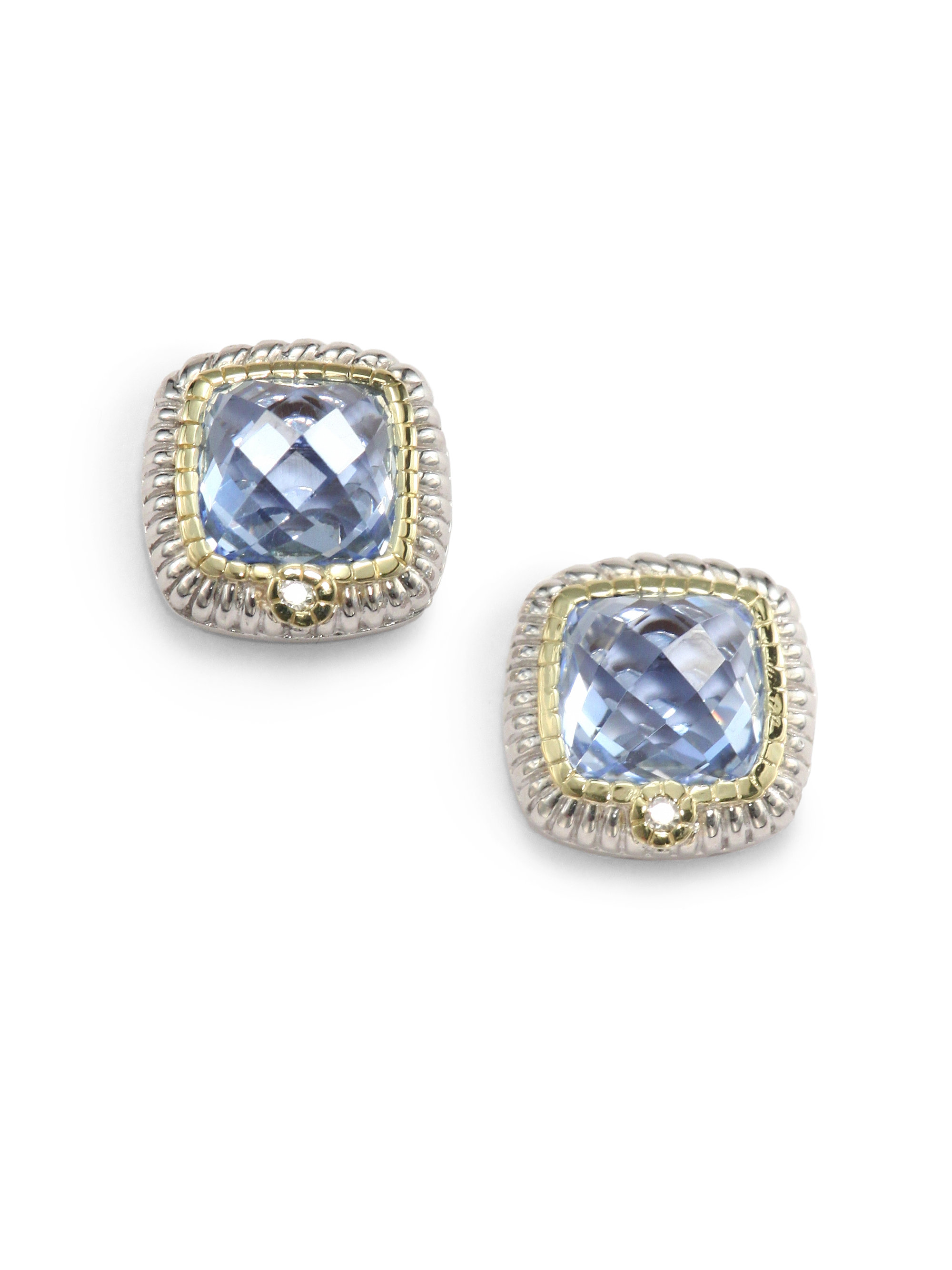 judith jewelry lyst ripka stud blue quartz silver product diamond earrings sterling gallery