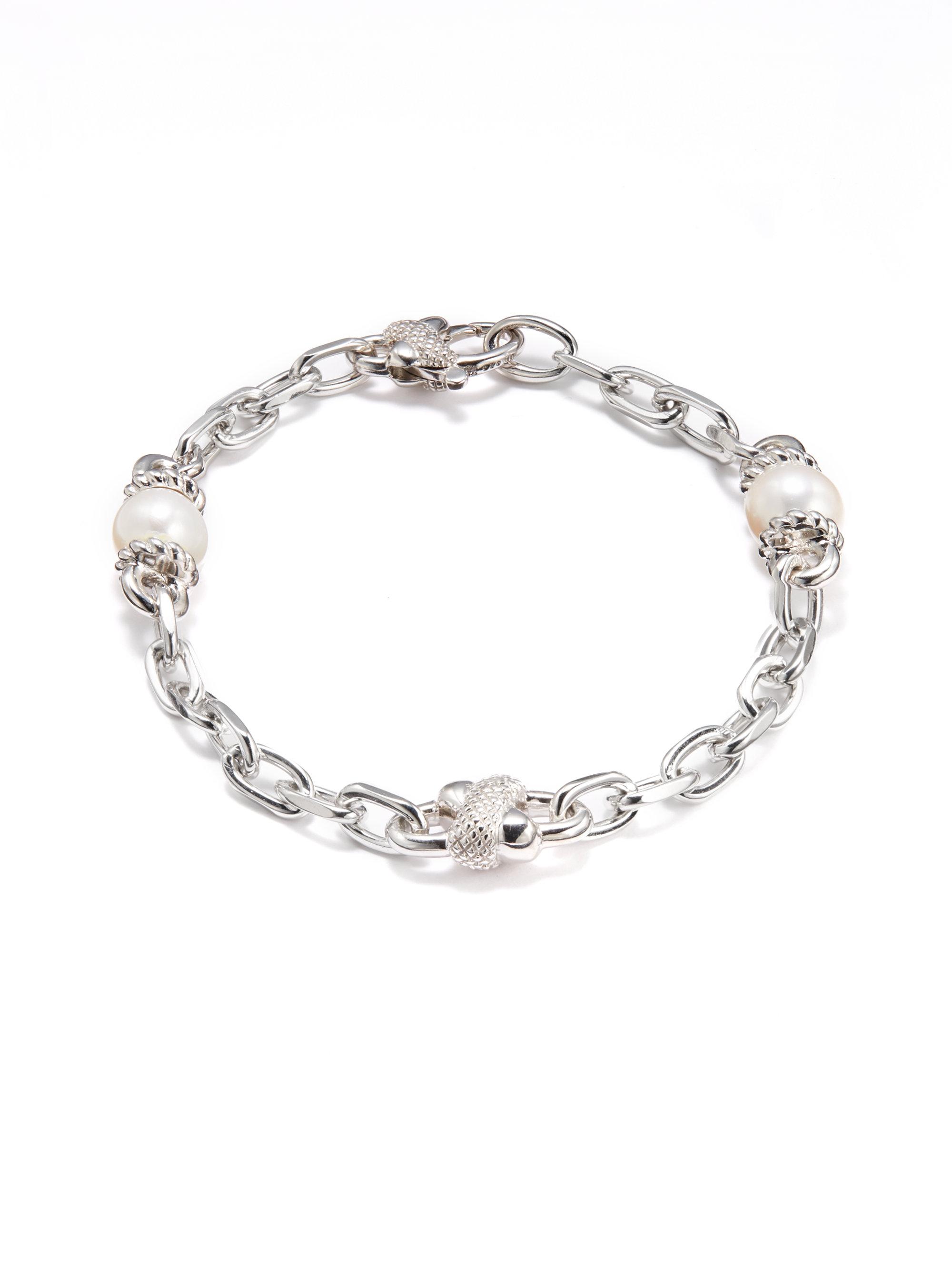 Judith Ripka Freshwater Pearl Sterling Silver Bracelet In