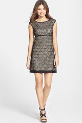 Laundry By Shelli Segal Eyelet Lace Fit Flare Dress - Lyst