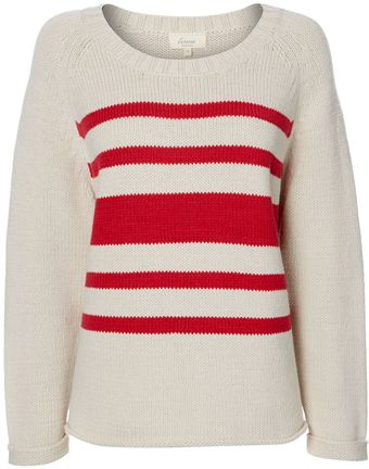 Linea Weekend Stripe Chunky Knit Jumper - Lyst