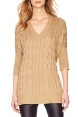 Michael by Michael Kors Long Cableknit Sweater - Lyst