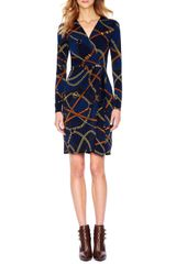 Michael by Michael Kors Beltprint Wrap Dress - Lyst