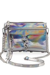 Rebecca Minkoff Mini Mac Pvc Crossbody Bag Platinum - Lyst